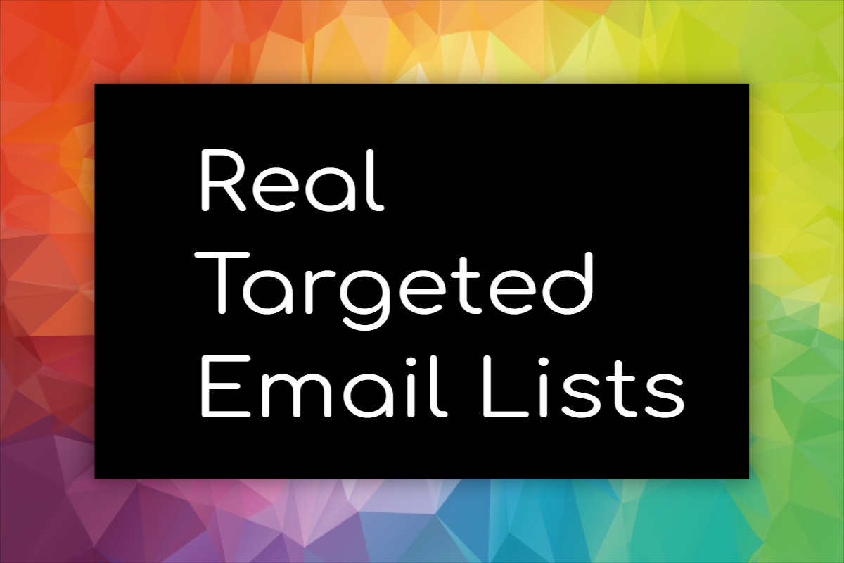 Real targeted email lists